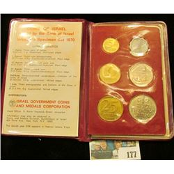 Coins of Israel Issued by the Bank of Israel Jerusalem Specimen Set 1970. Six-pieces.