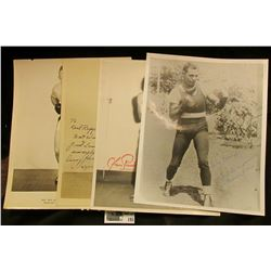 "(4) Old Black & White Autographed Photos of Boxers. Includes ""Danny Giovanelli"", ""Charlie Norkus"", """