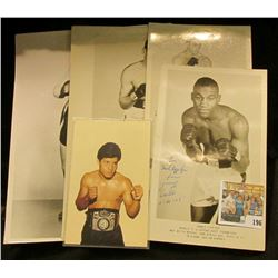 "Group of Black & white Autographed Boxing Photos. Includes ""Rocky Castellani"", ""Vic Cardell"", ""James"