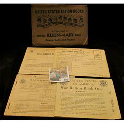 """United States Ration Books All Doing Their Best Ask Your Grocer for Enriched KLEEN-MAID Bread Cakes"