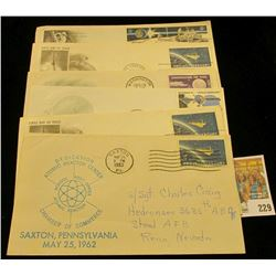 "1962 Cover ""Dedication Atomic Reactor Center School Post Office Atomic Reactor Chamber of Commerce S"