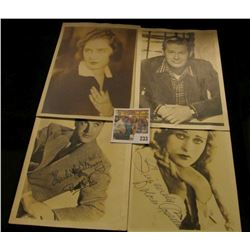 "5"" x 6 7/8"" Autographed B & W photo of Bob Hope; 5 x 7"" Dolores Costello autographed B & W Photo (Ms"