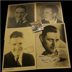 (4) different autographed B & W still Photos of famous Movie Stars including William Haines. Ken Har