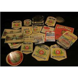 Approximately (50) Old Food Labels, all very colorful & fifty or more years old.
