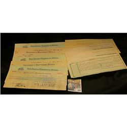 (5) different Promissory Notes for $20, $20, $45, $45, & $90 …in Gold Coin of the United States of A