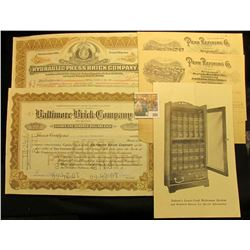 "25 Share Stock Certificate ""Hydraulic-Press Brick Company"", St. Louis, Mo.; 125 Share Stock Certific"