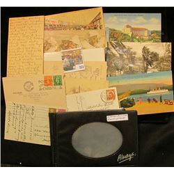 Booklet with (12) Foreign Post Cards. Some Old.