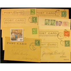 (8) Old Post Cards With Stamps.