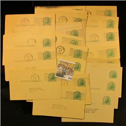 (46) Used 1c Franklin Postal Cards.(10) 2c Washington Cut Squares From Postal Cards Used.