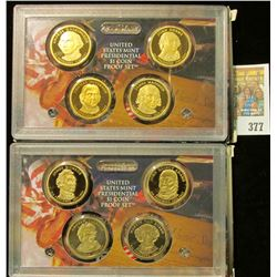 2007 S & 2008 S U.S. Four-piece Presidential Dollar Proof Sets in original cases as issued. This pai