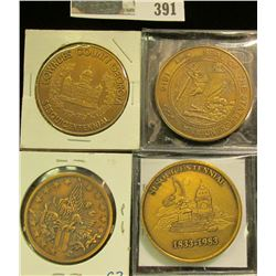 Town of Amherst New York150 Years of Progress 1818 Sesquicentennial 1968, Brass Medal; 1833-1983 Dub