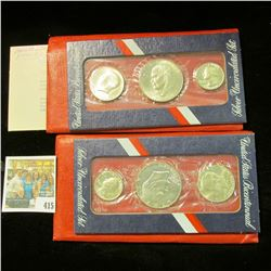 (3) 1976 S Gem BU U.S. Bicentennial Three-piece Mint Sets. Original as issued.