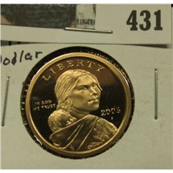 2005 S Proof 68 Native American Indian 'Golden' Dollar.
