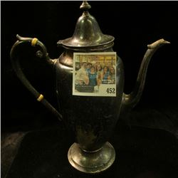 Part of the Estate of the John Morrell Family, of John Morrell Meat's fame. This Coffee Pitcher is m