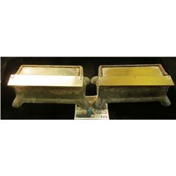 """Pair of Cast Aluminum """"Better Packages Inc.-Shelton Ct. Pat. RE-183232"""" :Labelor No. 202. Both with"""