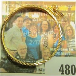 14K Solid Gold Diamond Cut Bezel for a U.S. $20 Gold Piece, weighs 2.6 grams with a current melt val