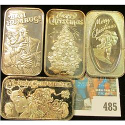 (4) Different non-dated One Ounce .999 Fine Silver Ingots.