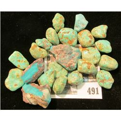 (22) Pieces of Raw or Semi-polished Turquoise Specimens.
