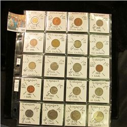 From Mexico to Singapore. (20) various Foreign coins, which all have been attributed and have a cata