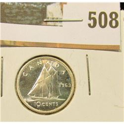 1963 Canada Proof-like Silver Dime