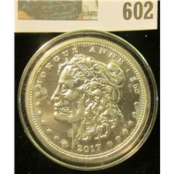 """ONE OUNCE SILVER ROUND MORGAN ZOMBUCKS """"CURRENCY OF THE APOCOLYPSE"""""""