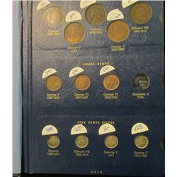 CANADIAN TYPE SET.  THE VALUE OF EACH COIN ARE BESIDE THE COIN.  THIS LOT INCLUDES A TOTAL OF 5 LARG