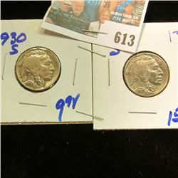 1930-S AND 1935-S BUFFALO NICKELS