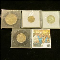 FOREIGN SILVER COINS LOT INCLUDES INDIA 1944 ONE RUPEE, 1945 1/4 RUPEE, 1948 SWISS ONE FRANC, AND 19