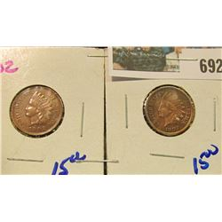 1902 & 1907 INDIAN HEAD CENTS