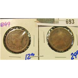 1849 & 1856 LARGE CENTS WITH DAMAGE