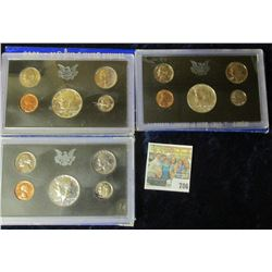 1968, 1969, & 1970 PROOF SETS.  THE HALF DOLLARS IN THESE SETS ARE ALL SILVER