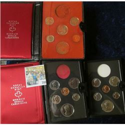 1977 PROOF CANADIAN DOUBLE DOLLAR SET MINUS THE SILVER DOLLAR, 1976 DOUBLE DOLLAR SET MINUS THE SILV