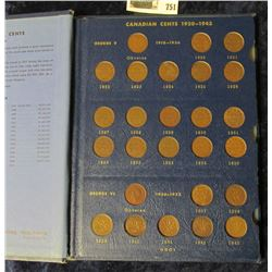 CANADIAN SMALL CENT COLLECTION STARTING WITH 1920.  THE KEY DATES 1922, 1923, & 1925 ARE INCLUDED