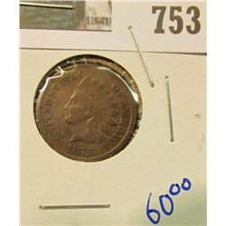 1875 BETTER DATE INDIAN HEAD CENT