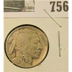 1931-S SEMI KEY DATE BUFFALO NICKEL