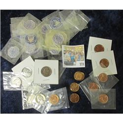 PROOF LINCOLN MEMORIAL CENTS & JEFFERSON NICKELS FROM THE 1950'S & 1960'S