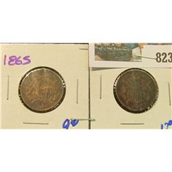 1865 & 1866 TWO CENT PIECES