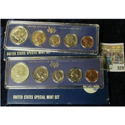 1966 & 1967 SPECIAL MINT SETS.  THE HALF DOLLARS IN THESE SETS ARE SILVER