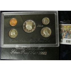 1992 SILVER PROOF SET.  THE HALF DOLLAR, QUARTER, & DIME ARE ALL SIVER