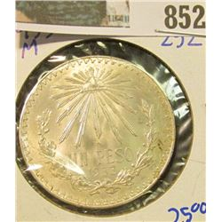 1933-M SILVER MEXICAN ONE PESO COIN