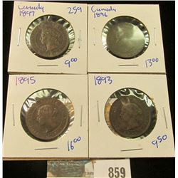 CANADIAN LARGE CENT LOT INCLUDES 1893, 1895, 1896, & 1897