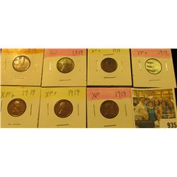 935 _ (7) 1919 P Lincoln Cents, all grading EF-AU. Nice Chocolate browns.