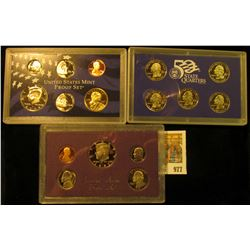 977 _ 1987 S & 2005 S U.S. Proof Sets, original as issued.