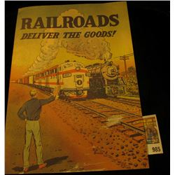 """985 _ Old Comic Book printed by the """"Association of American Railroads, Transportation Building, Was"""