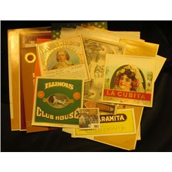 993 _ (20) different Old Cigar Box labels in excellent condition dating back to the early 1900s. Ver