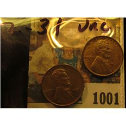 1001 _ Pair of 1931 P Lincoln Cents, both Brown uncirculated.