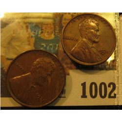 1002 _ Pair of 1931 D Lincoln Cents, both Brown uncirculated.