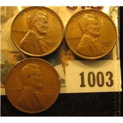 1003 _ (3) 1931 D Lincoln Cents, both Brown uncirculated.