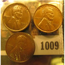 1009 _ 1930 P Brown Uncirculated & (2) 30 D Brown Uncirculated Lincoln Cents.