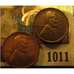 1011 _ Pair of 1930 D Lincoln Cents, one is Brown Unc & the other Red Unc.
